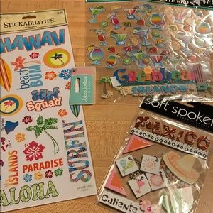 Lot of 5 Tropical Travel Stickers